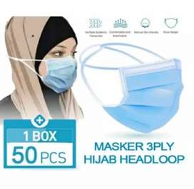 Masker Hijab Biru/Headlooph Biru
