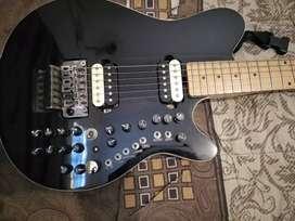 electrik gitar warna hitam unik