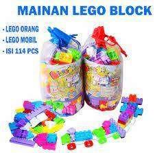 Mainan Lego Blocks Happy Time 114 Pcs / Mainan Lego Block