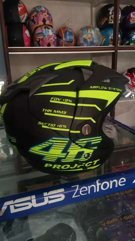 Helm murah 2 kaca/ dobel visor