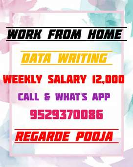 GREAT OPPORTUNITY FOR YOU WORK FROM HOME