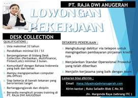 Lowongan Kerja Desk Collection, PT. Raja Dwi Anugerah
