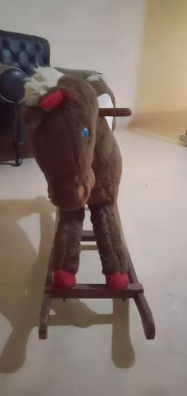 Rolling horse wooden