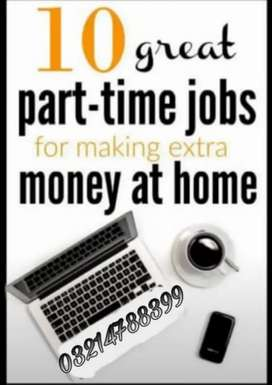 Need staff for online job male & female can apply this job