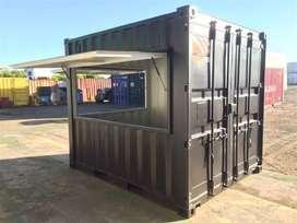 Container Kontainer Cafe Food Beverages 10ft Praktis Harga Ekonomis