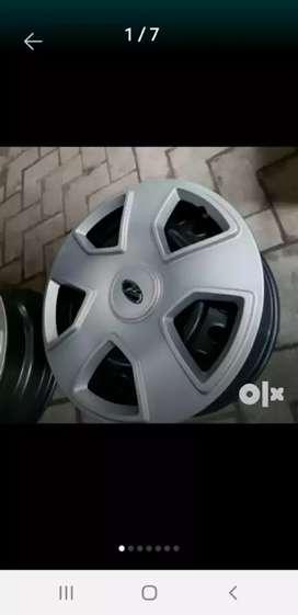 Scorpio orignal rims with wheel cups in new condition