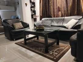 Sofa set of black color