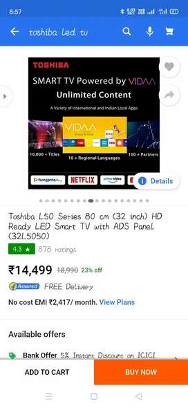 New led TV Toshiba