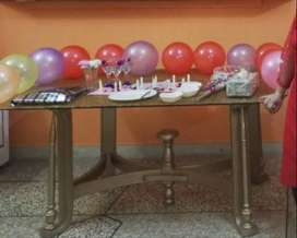 Golden Mate color Dinning Table with 6 Chairs