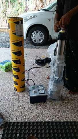 1.5 hp borewell V-guard pump