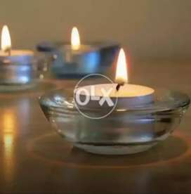 """Floating round candles 1.5"""" / 0.6"""""""