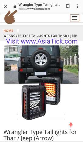 Wrangler type tail lights for mahindra thar , jeep