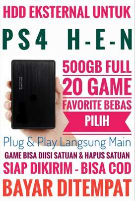 HDD 500GB FULL 20 Game Terlaris PS4 Terjangkau Mrh Meriah Bebas Pilih
