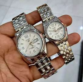 jam tangan couple seiko 38-32mm daydate on completed