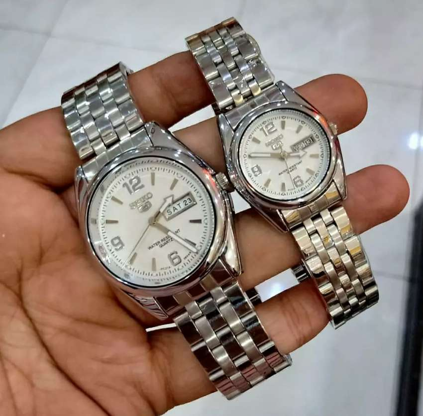 jam tangan couple seiko 38-32mm daydate on completed 0