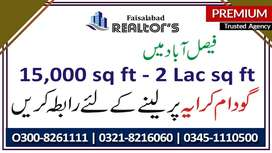 Small and Big Warehouse available for Small & Big Storage at Fsd