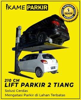 Hidrolik parkir mobil 2 tiang bisa untuk rumahan