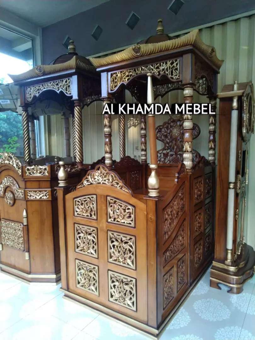 Ready Mimbar Masjid Material Kayu Jati Berkualitas @610 0