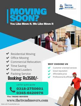 The Trend Movers (House Shifting and Office Relocation)Booking Rs3500/