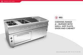 cooking range with oven and hotplate