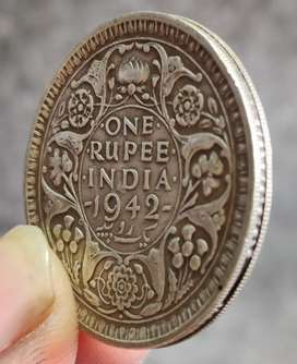 Old one repee silver coin