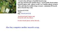 i want to buy all types of mobile dead mother boards minimum 50