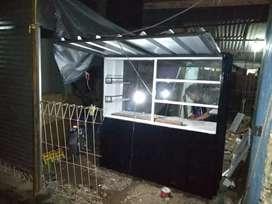 Jual roda booth semi kontainer cocok untuk jualan minuman thai tea