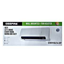 Geepas wall mounted fan heater