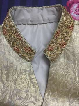 Sherwani Golden Color complete set (10/10)