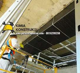 Spesialist Carbon FRP. Perkuatan struktur beton injeksi grouting epoxy