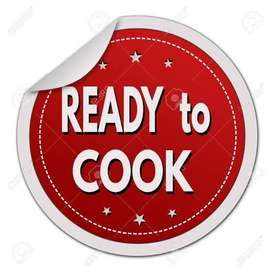 Ready to cook items, get your items prepared within 2 hours.