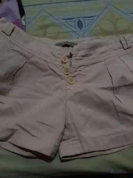 Celana hot pant warna oranye