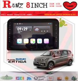 HEAD UNIT RUNZ LAYAR 8INCH 1GB-16GB ALL NEW ERTIGA