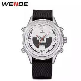 Jam tangan weide WH6306 dual time original waterproof