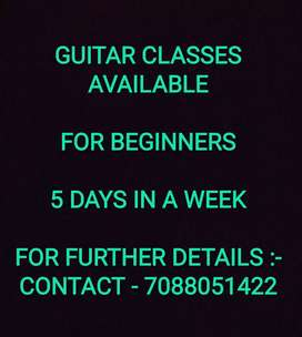 Guitar classes Available