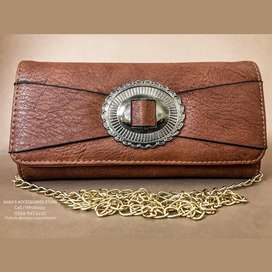 Female Clutch Purse In Ancient Moon Moon Design With Free Delivery