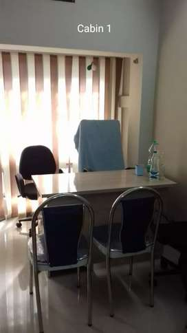 Full Furnished office wth 3 chambers and plush reception at Ruby