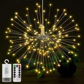Lampu Hias Gantung Model Fireworks 120 LED with Remote