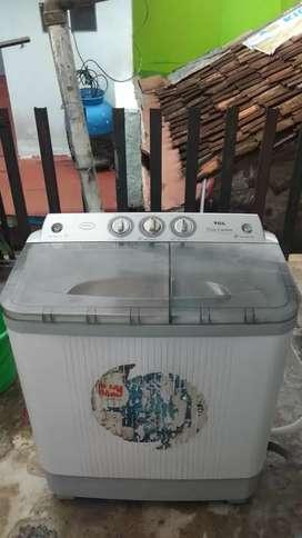 Jual mesin cuci tcl 8kg normal siap pakai