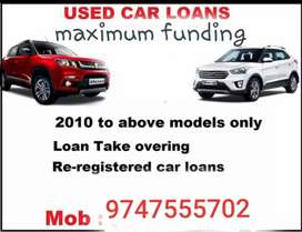 Used car loan available above 2010*model