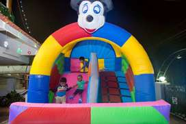 Bouncer for kids Slide  to jump on and play School material Air filled