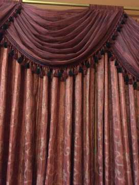 Royal red curtains