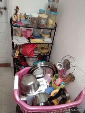 Kichen stand and utensil basket