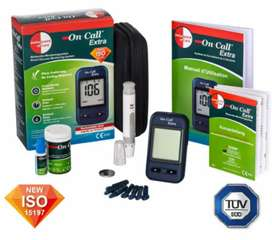 ON CALL extra glucometer testing monitoring