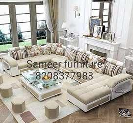 L shape sofa set curnar set Sameer furniture,56