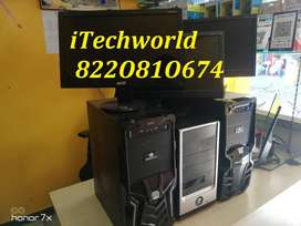 Office Use Systems :- Dual Core / 4GB RAm / 250GB hdd / 15.6 led Full