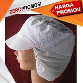 Topi Produksi / Pet Sanggul Custom Logo Promosi