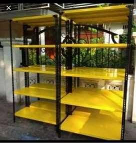 Rak 5 susun warna kuning 5 rak borongan ukuran 40x100x200