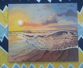 Sunset on a Beach canvas art