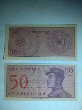 Uang Kertas 50 Sen Sukarelawan